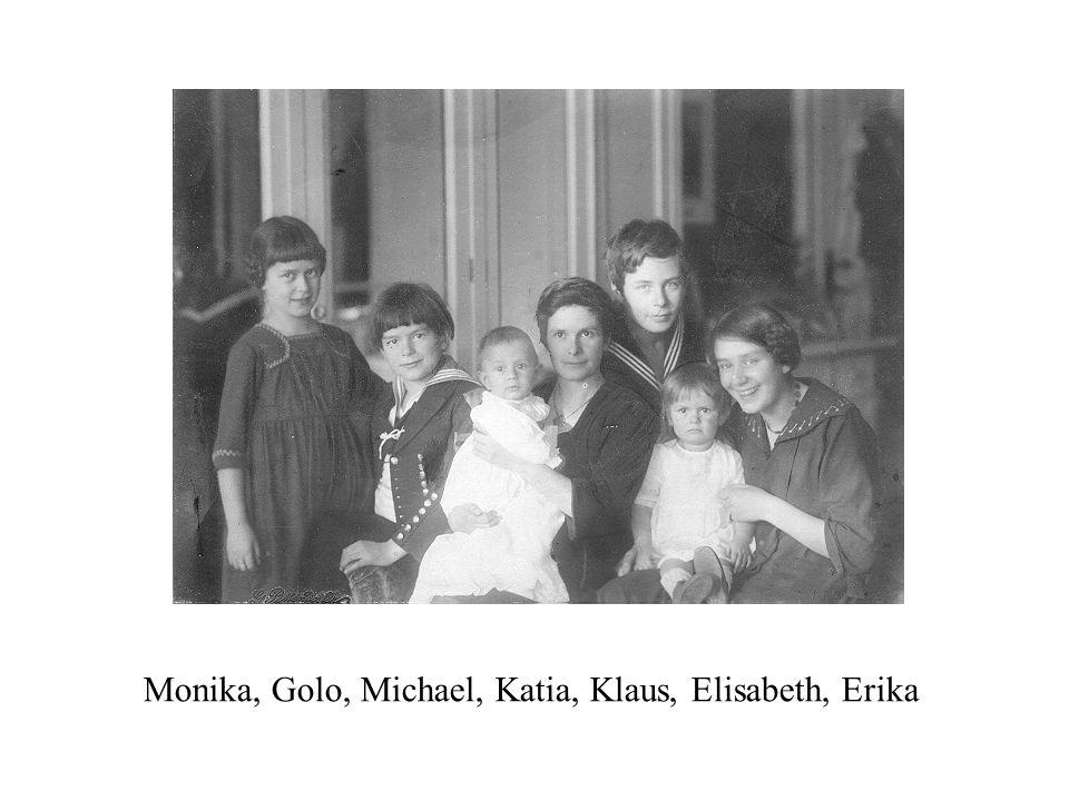 Monika, Golo, Michael, Katia, Klaus, Elisabeth, Erika