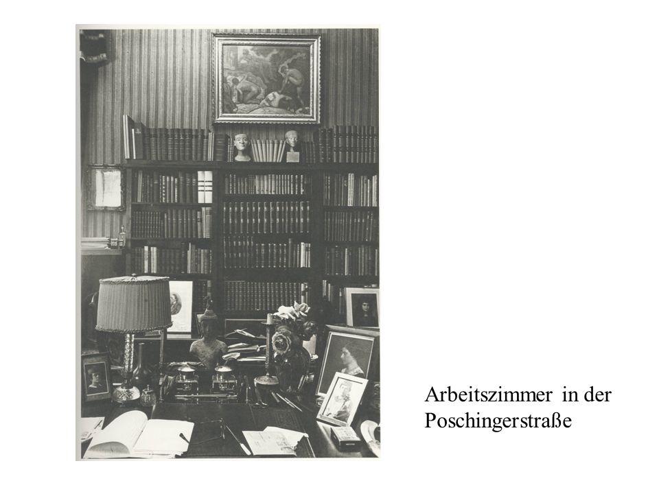 Arbeitszimmer in der Poschingerstraße