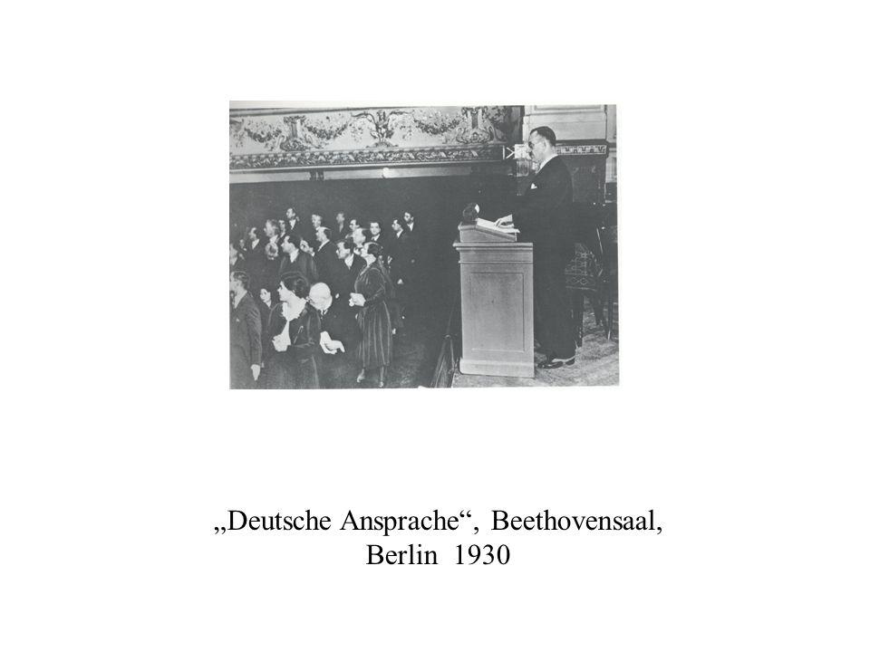 """""""Deutsche Ansprache , Beethovensaal, Berlin 1930"""