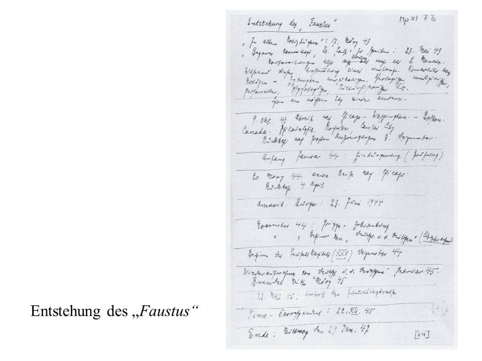 """Entstehung des """"Faustus"""