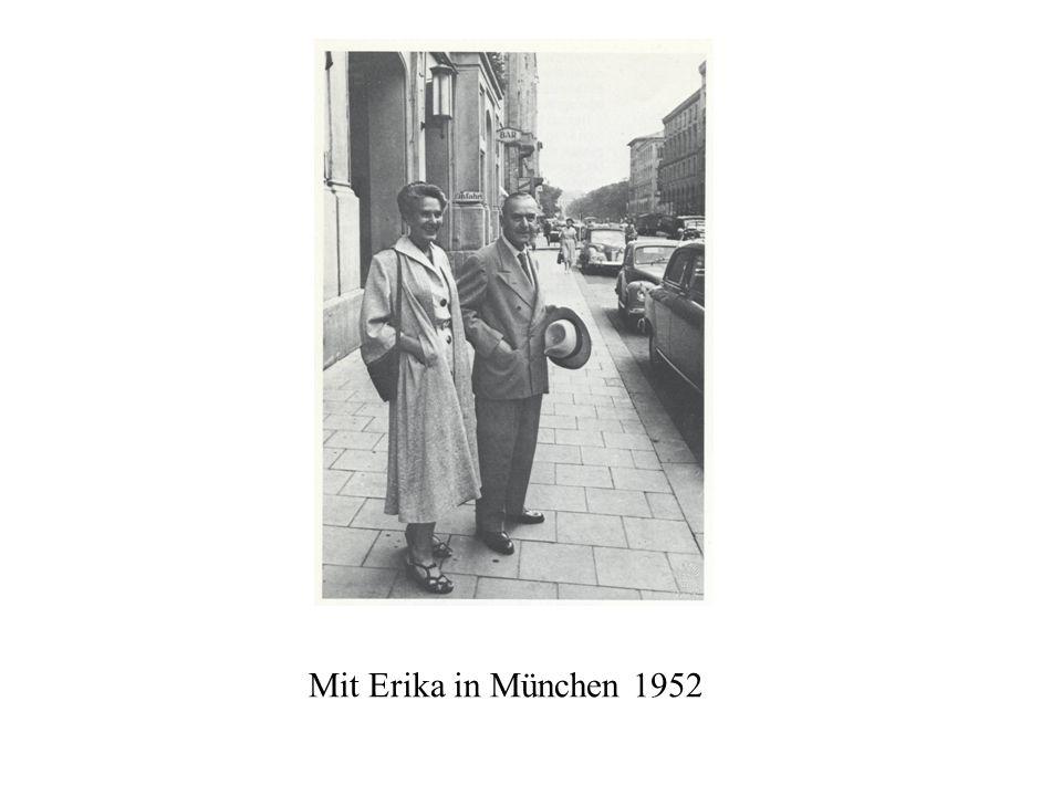 Mit Erika in München 1952