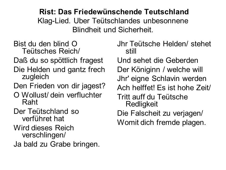 Rist: Das Friedewünschende Teutschland Klag-Lied