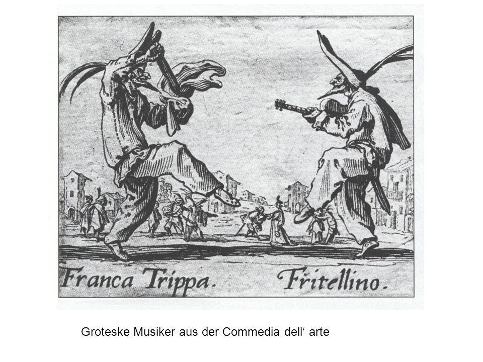 Groteske Musiker aus der Commedia dell' arte