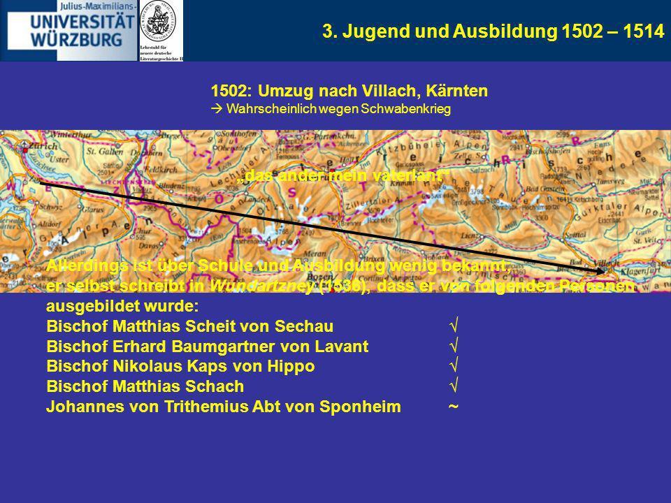 3. Jugend und Ausbildung 1502 – 1514