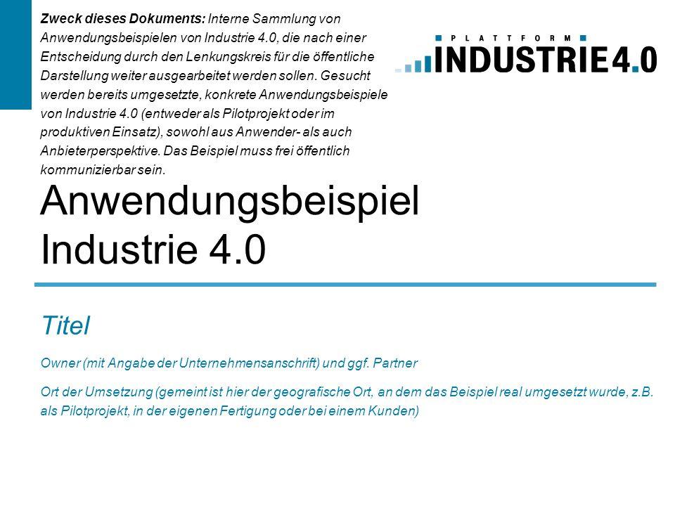 Anwendungsbeispiel Industrie 4.0