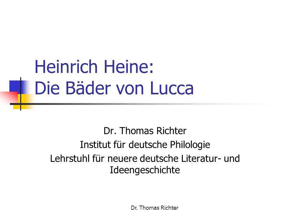Heinrich Heine: Die Bäder von Lucca