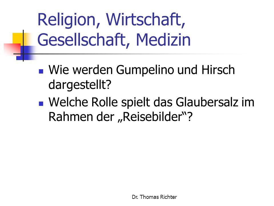 Religion, Wirtschaft, Gesellschaft, Medizin
