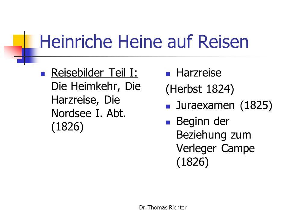 Heinriche Heine auf Reisen