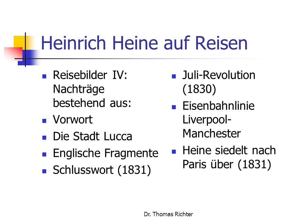 Heinrich Heine auf Reisen
