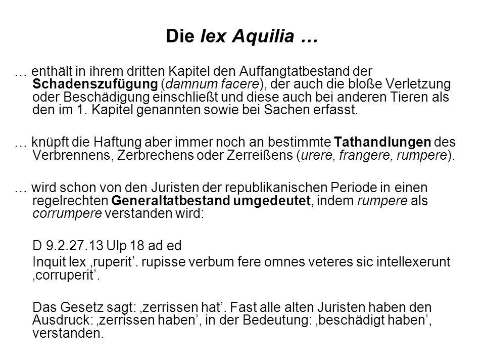 Die lex Aquilia …