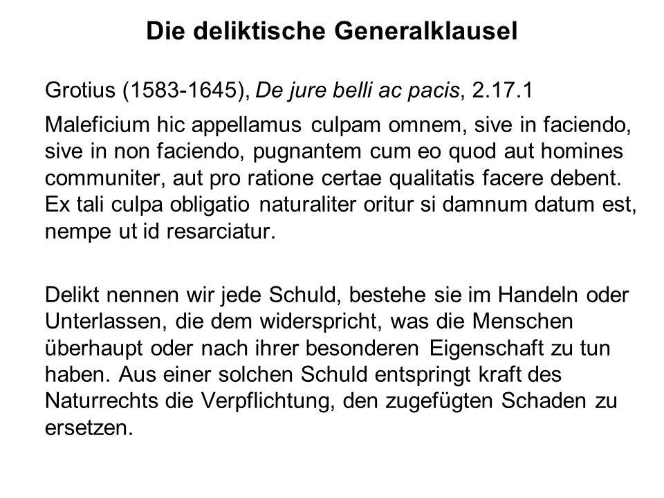 Die deliktische Generalklausel
