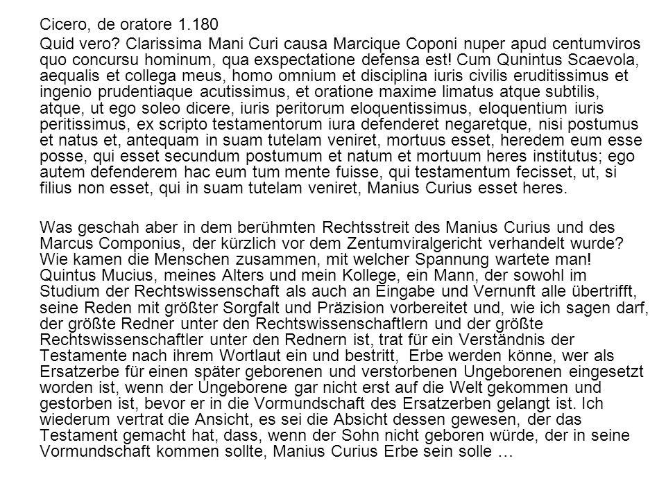 Cicero, de oratore 1.180