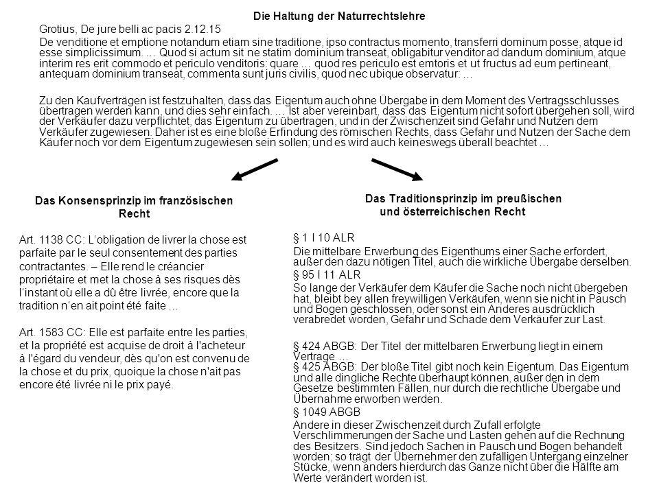 Das Konsensprinzip im französischen Recht und österreichischen Recht