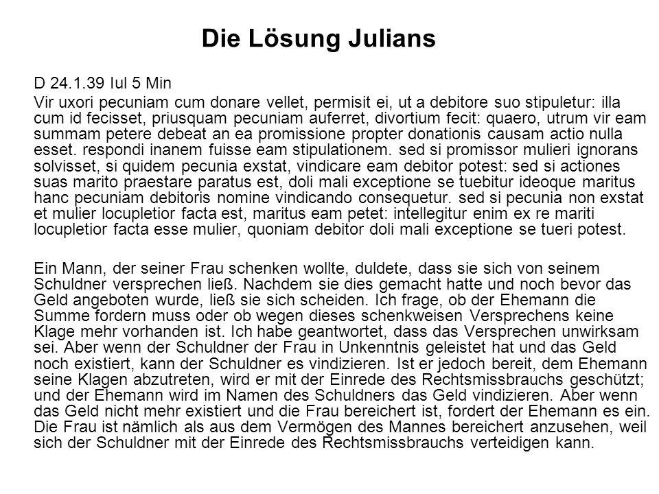Die Lösung Julians D 24.1.39 Iul 5 Min