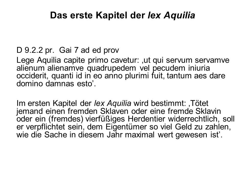 Das erste Kapitel der lex Aquilia