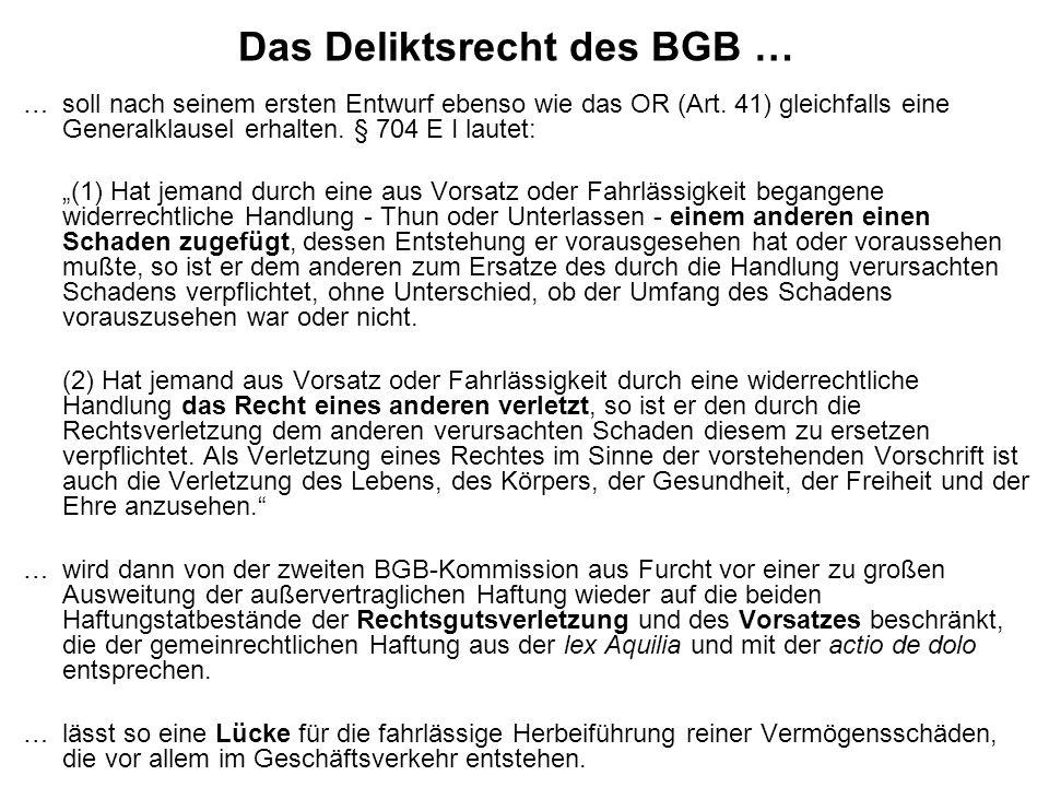 Das Deliktsrecht des BGB …