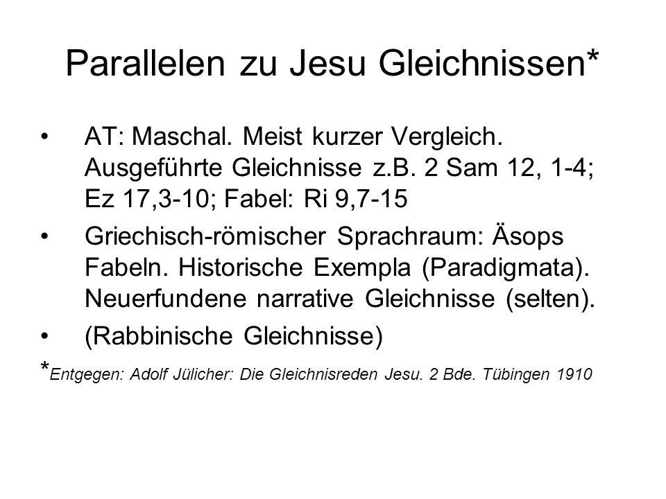Parallelen zu Jesu Gleichnissen*