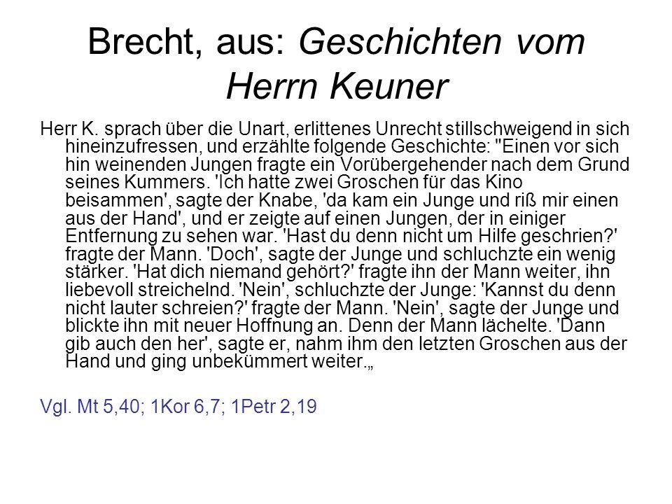 Brecht, aus: Geschichten vom Herrn Keuner
