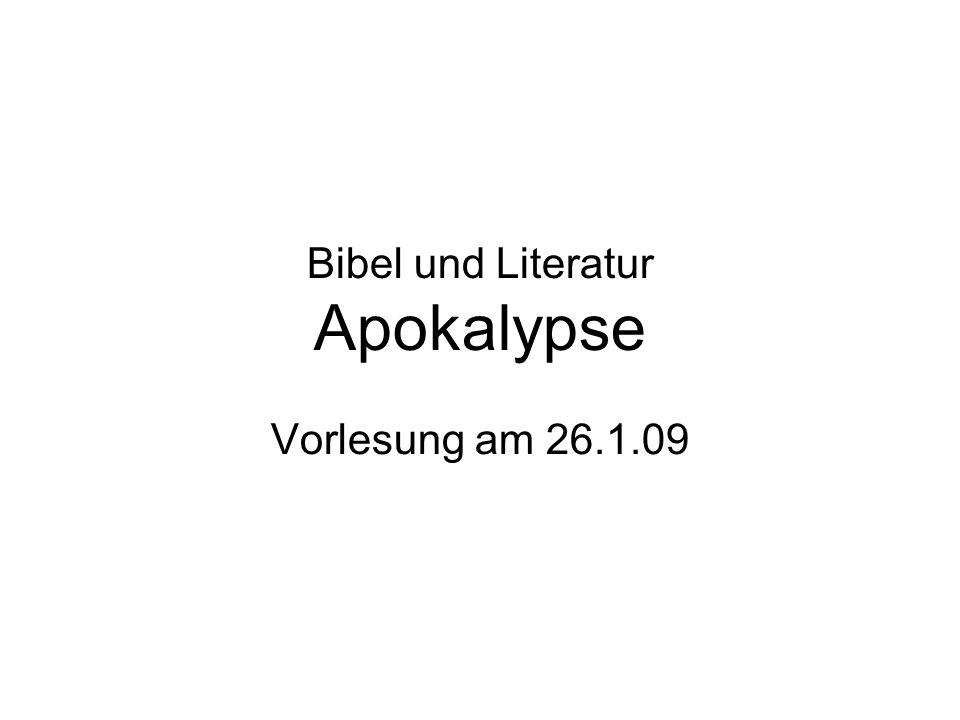 Bibel und Literatur Apokalypse