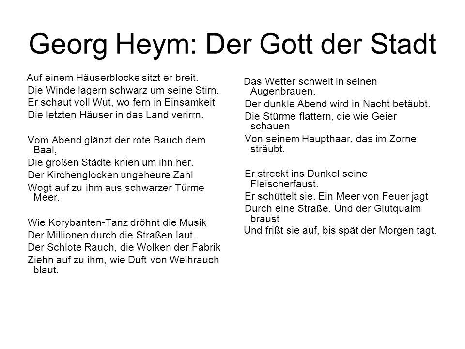 Georg Heym: Der Gott der Stadt