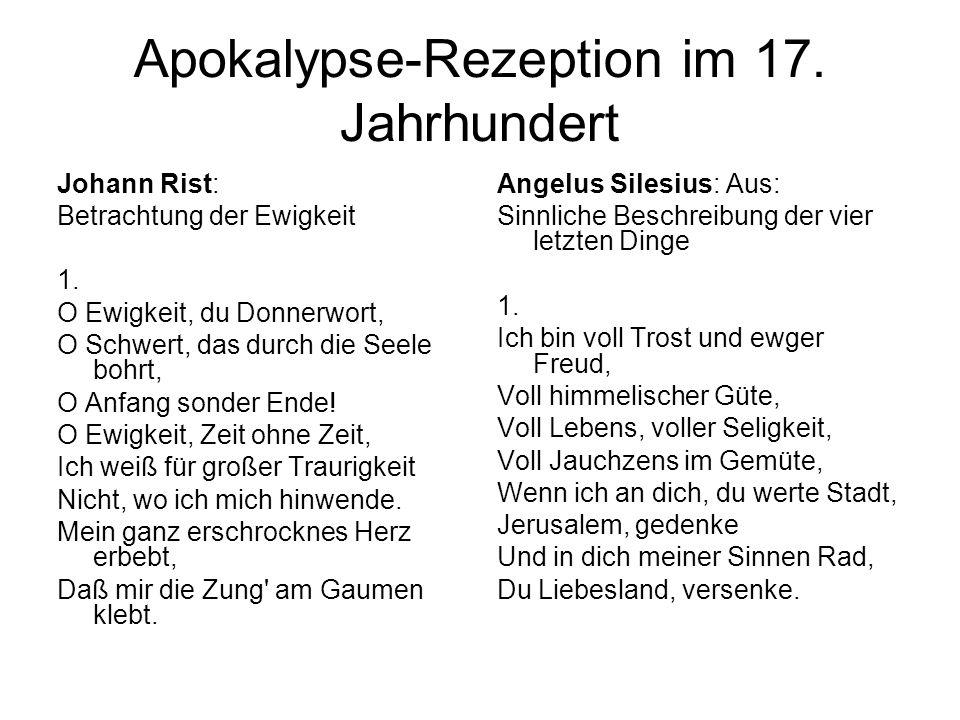 Apokalypse-Rezeption im 17. Jahrhundert