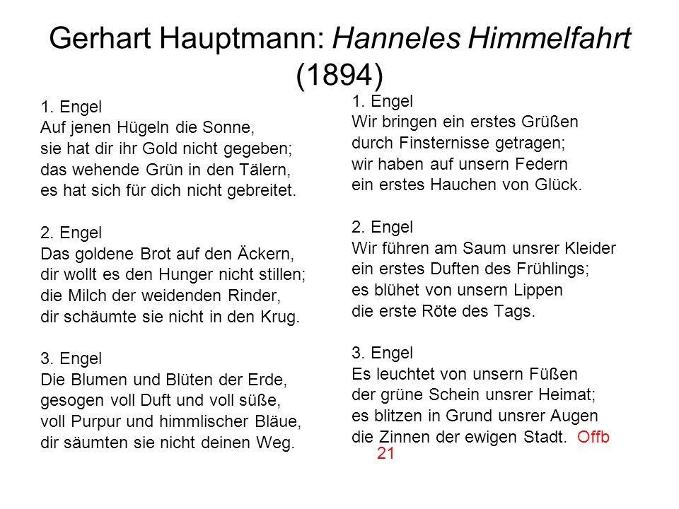 Gerhart Hauptmann: Hanneles Himmelfahrt (1894)