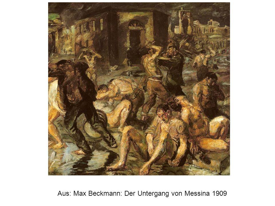 Aus: Max Beckmann: Der Untergang von Messina 1909