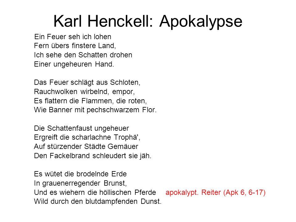 Karl Henckell: Apokalypse