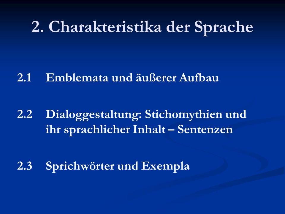 2. Charakteristika der Sprache