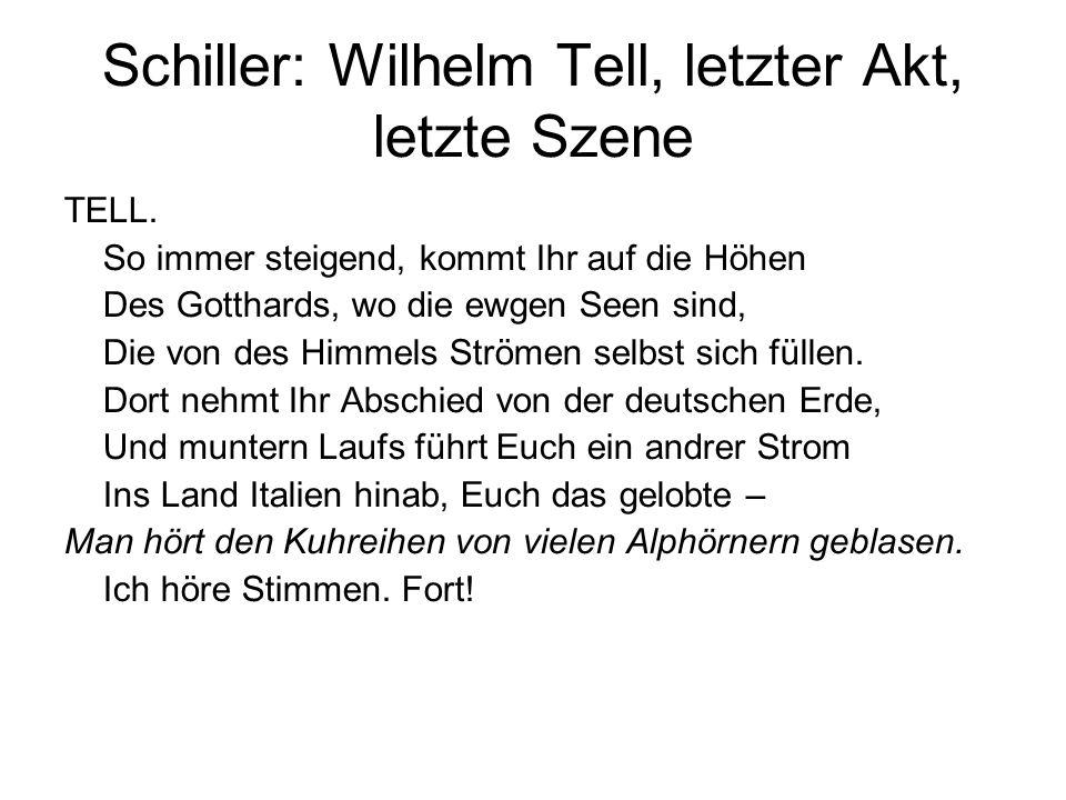 Schiller: Wilhelm Tell, letzter Akt, letzte Szene