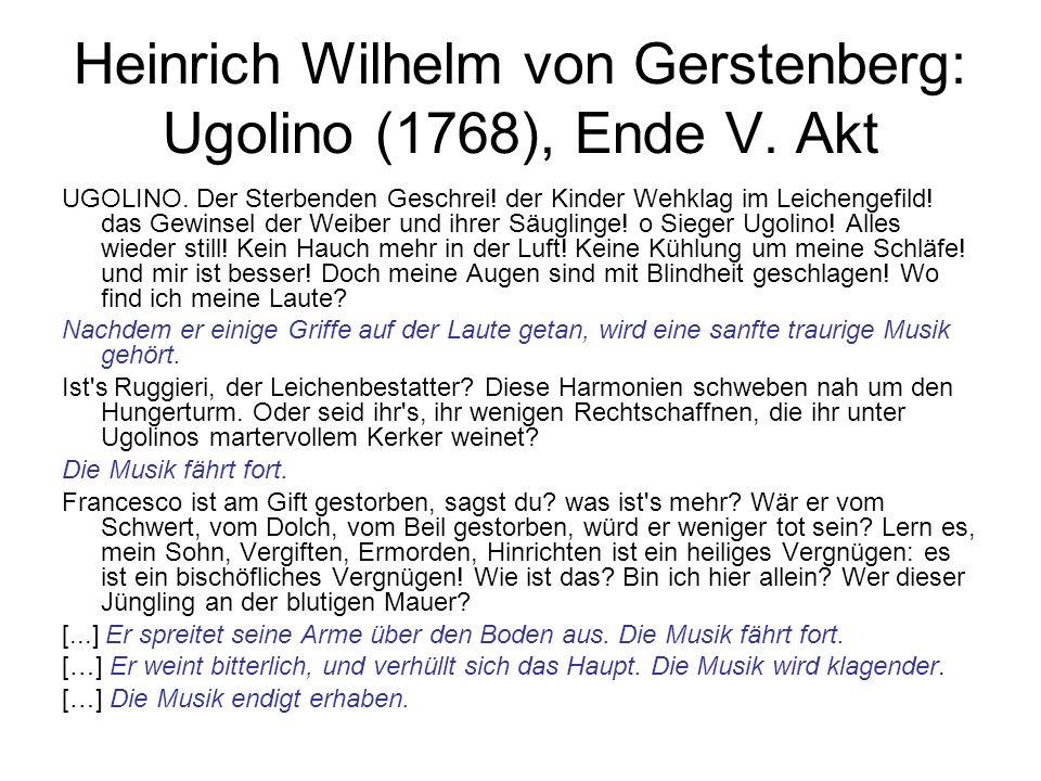Heinrich Wilhelm von Gerstenberg: Ugolino (1768), Ende V. Akt