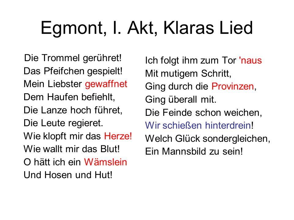 Egmont, I. Akt, Klaras Lied