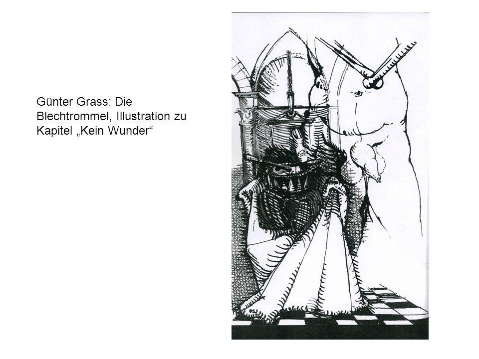 """Günter Grass: Die Blechtrommel, Illustration zu Kapitel """"Kein Wunder"""