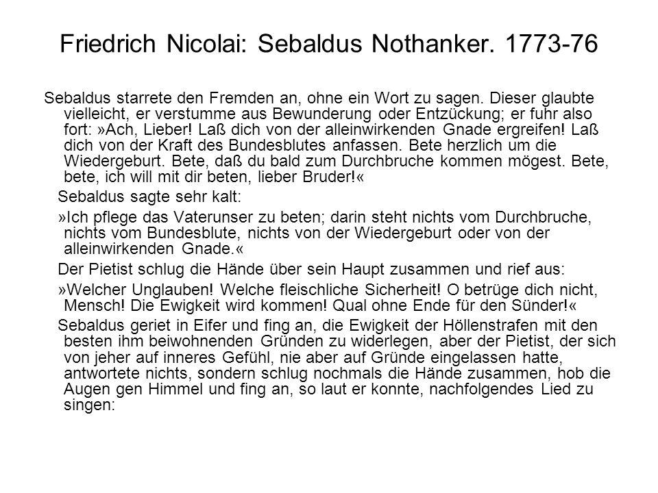 Friedrich Nicolai: Sebaldus Nothanker. 1773-76