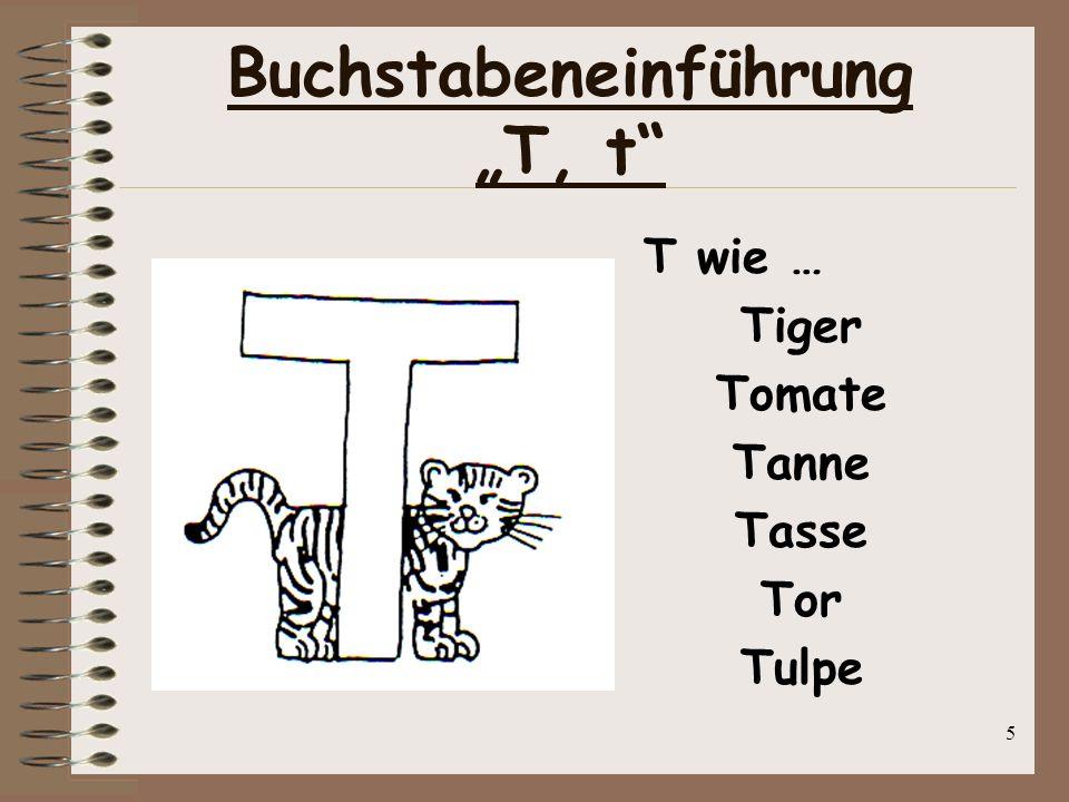 """Buchstabeneinführung """"T, t"""