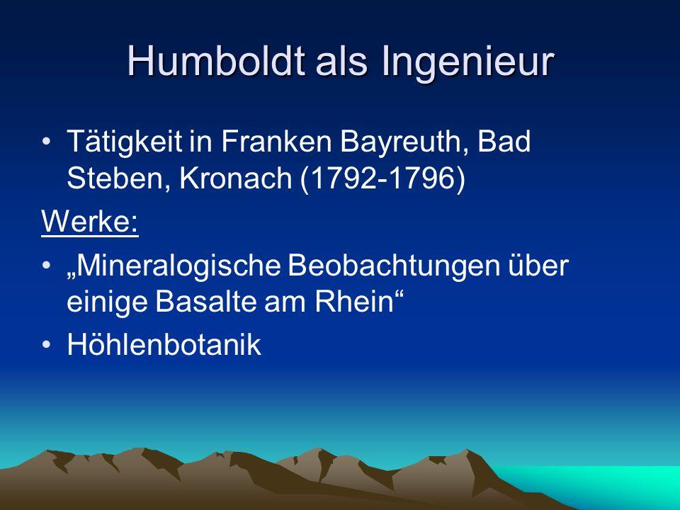 Humboldt als Ingenieur