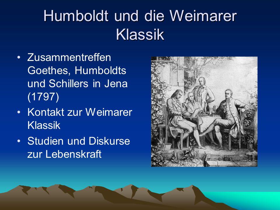 Humboldt und die Weimarer Klassik