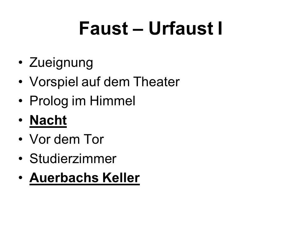 Faust – Urfaust I Zueignung Vorspiel auf dem Theater Prolog im Himmel