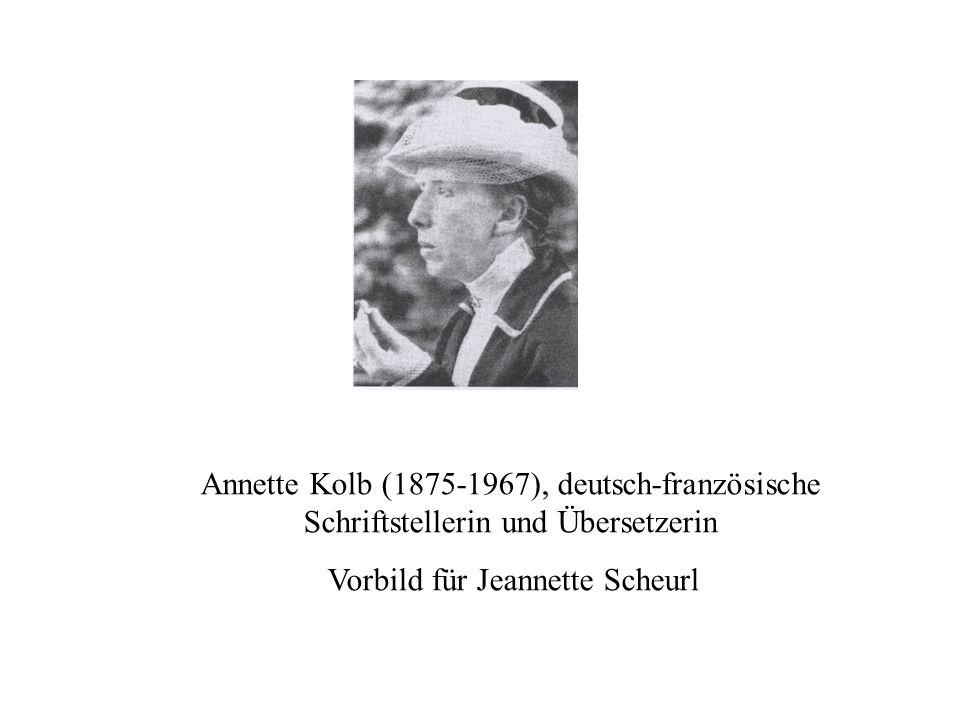 Vorbild für Jeannette Scheurl