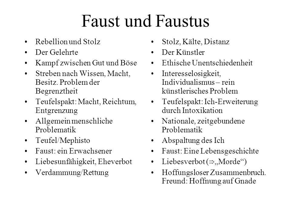 Faust und Faustus Rebellion und Stolz Der Gelehrte