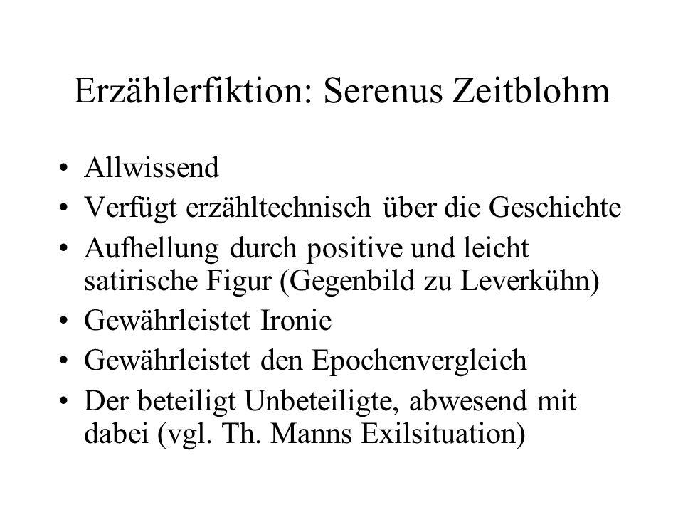 Erzählerfiktion: Serenus Zeitblohm