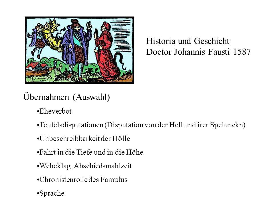 Historia und Geschicht Doctor Johannis Fausti 1587