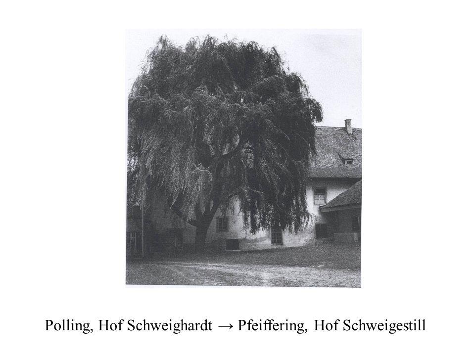 Polling, Hof Schweighardt → Pfeiffering, Hof Schweigestill