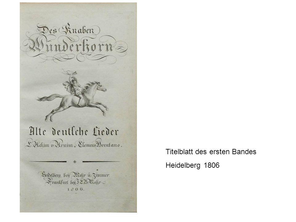Titelblatt des ersten Bandes