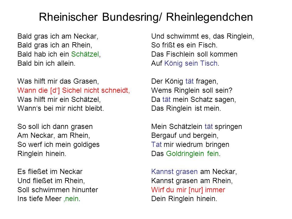 Rheinischer Bundesring/ Rheinlegendchen
