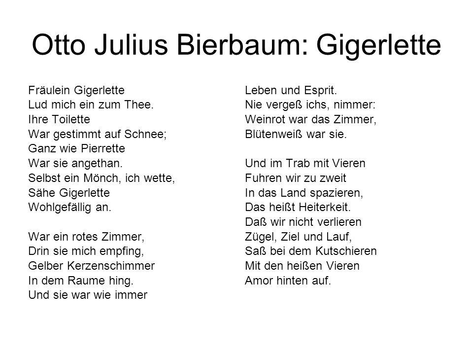 Otto Julius Bierbaum: Gigerlette