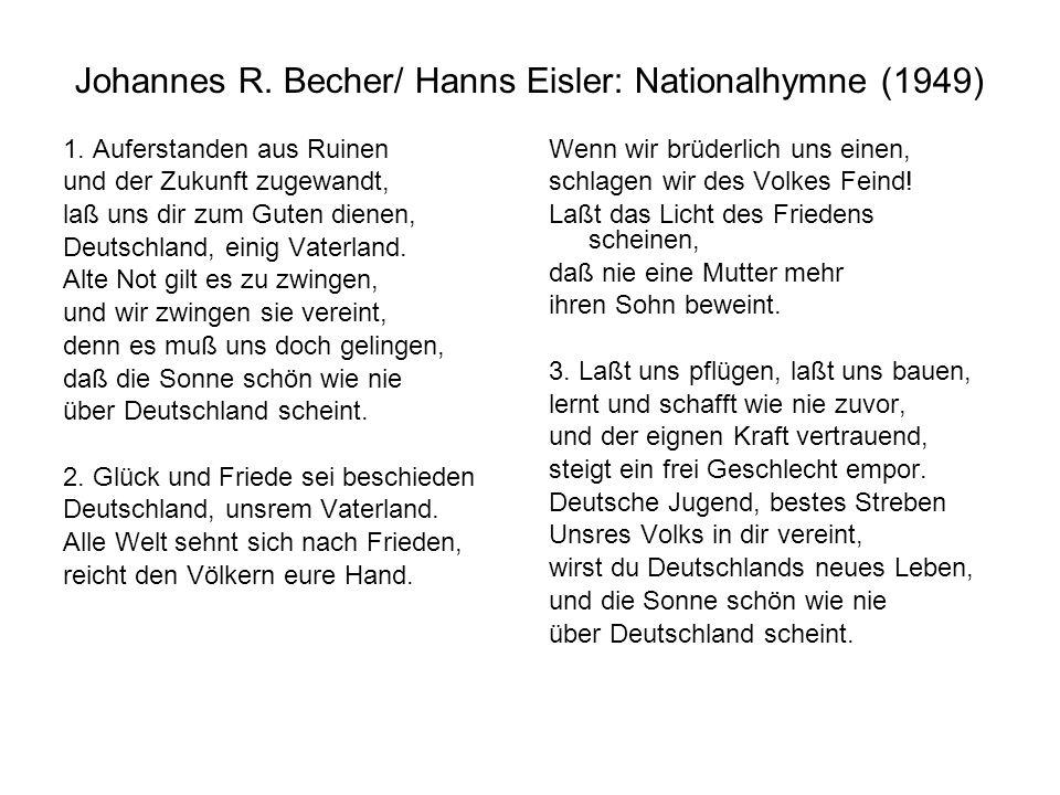 Johannes R. Becher/ Hanns Eisler: Nationalhymne (1949)