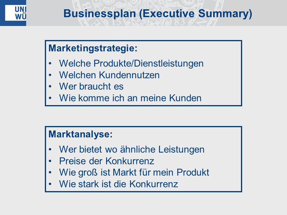 Businessplan (Executive Summary)