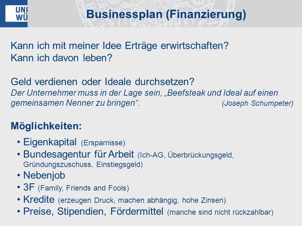 Businessplan (Finanzierung)