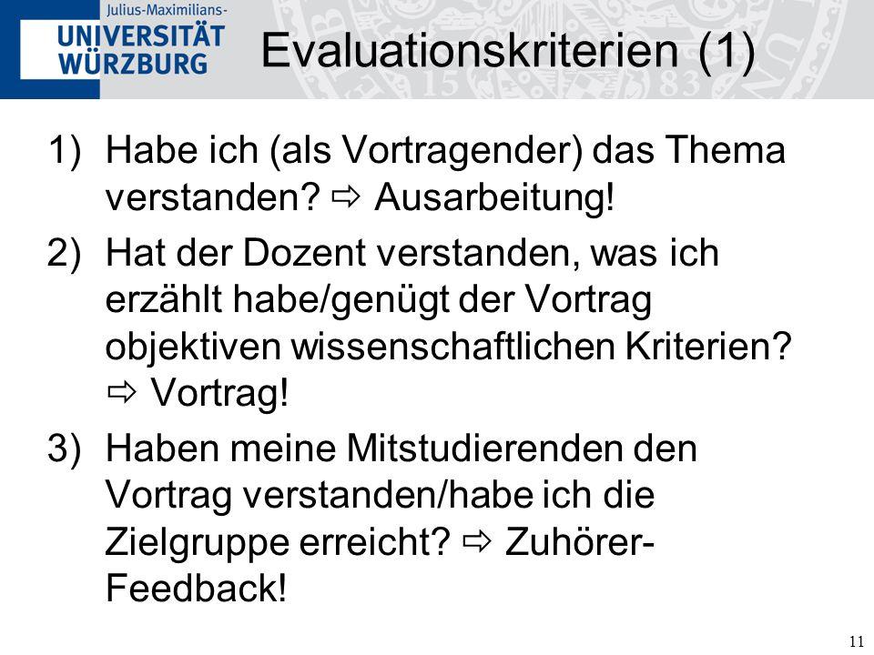 Evaluationskriterien (1)